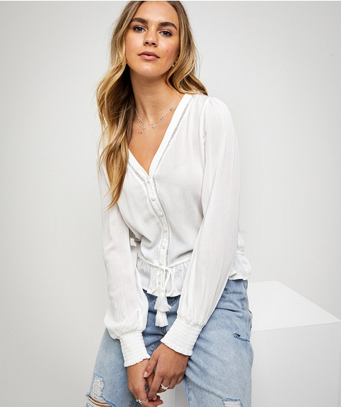 CRINKLE BLOUSE