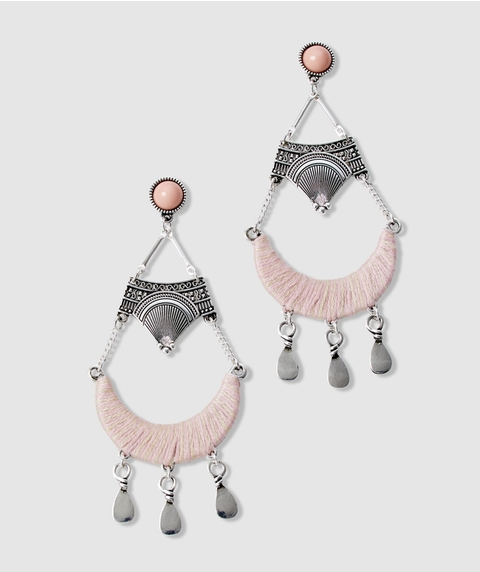 BLUSH BOHO DROP EARRINGS