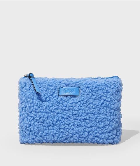 EMILY TEDDY BEAUTY BAG - BLUE