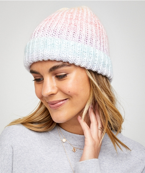RILEY OMBRE KNITTED BEANIE