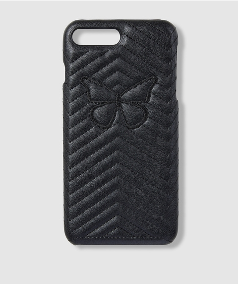 7+/8+ BUTTERFLY QUILTED PHONE CASE