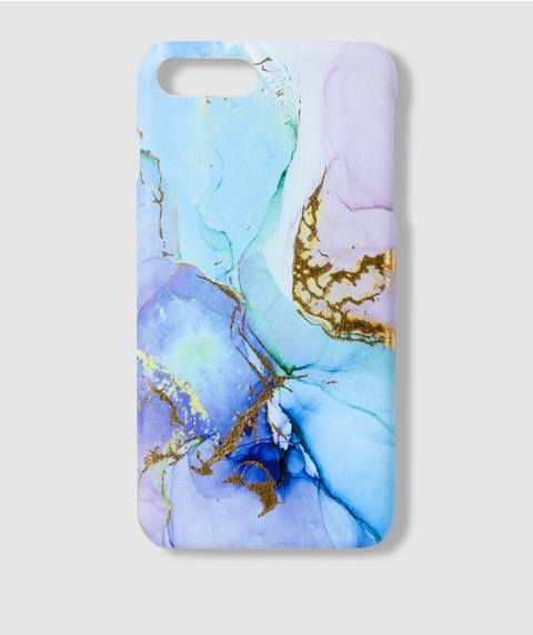 7+/8+ BLUE MARBLE PHONE CASE