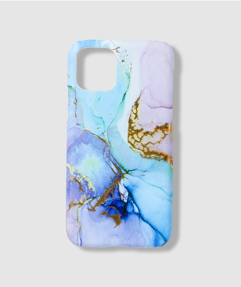 XS/11P BLUE MARBLE PHONE CASE