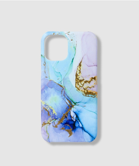 12 MINI BLUE MARBLE PHONE CASE