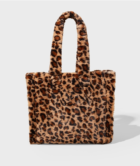 ANIMAL FLUFFY TOTE