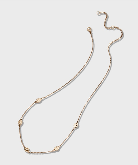 ECO - GOLD MINI COIN STATIONED CHOKER