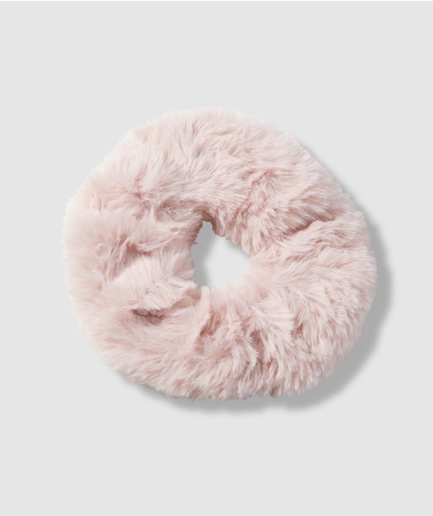 BLUSH FLUFFY SCRUNCHIE