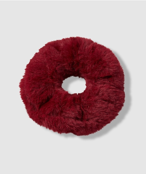 BURGUNDY FLUFFY SCRUNCHIE
