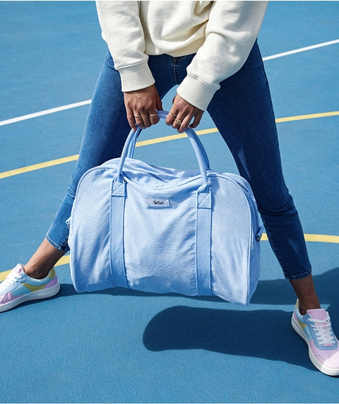 CORNFLOWER CORD DUFFLE BAG