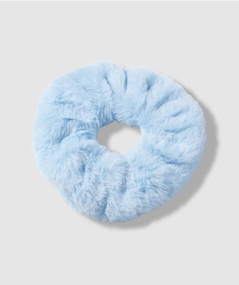 BABY BLUE FLUFFY SCRUNCHIE