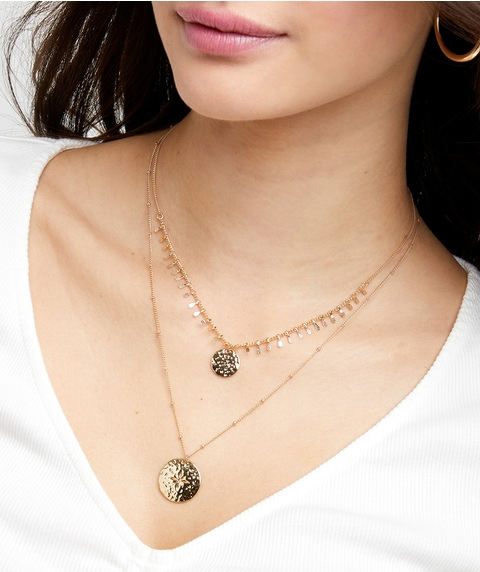 TEXTURED LAYERED NECKLACE