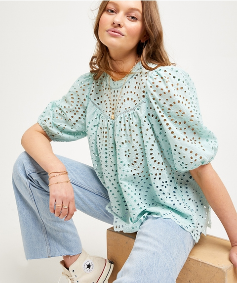 BRODERIE SWING BLOUSE