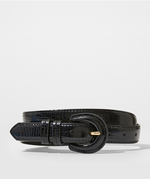 CROC COVERED BUCKLE BELT