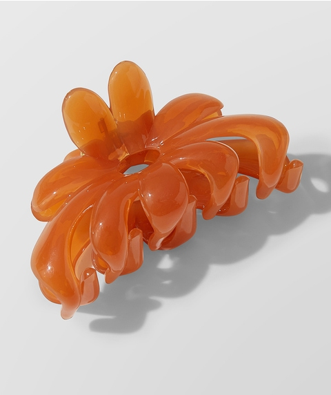 APRICOT FLORAL CLAW
