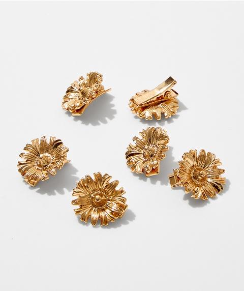 GOLD FLOWER CLIPS