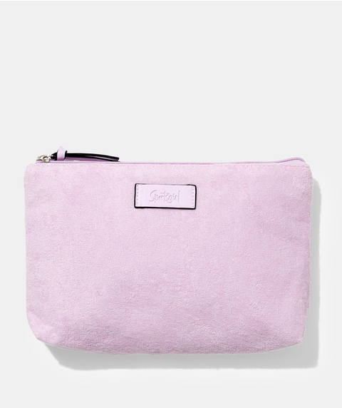 TERRY TOWELLING BEAUTY BAG – PINK