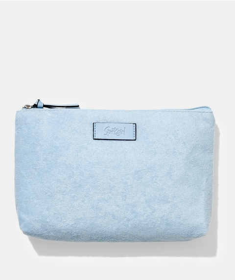 TERRY TOWELLING BEAUTY BAG - BLUE