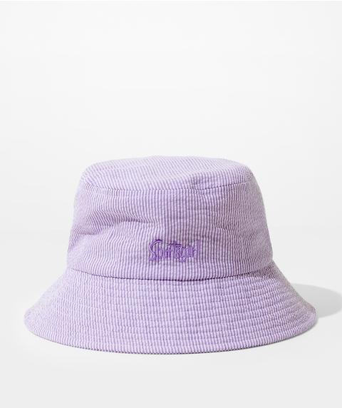REWIND BUCKET HAT – SEERSUCKER STRIPE
