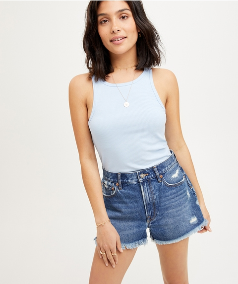 THE MID RISE RELAXED DENIM SHORT
