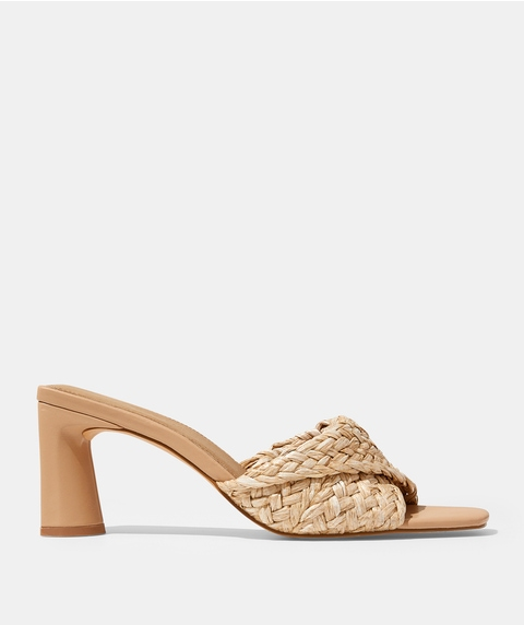 WOVEN AMBER MULE - NATURAL