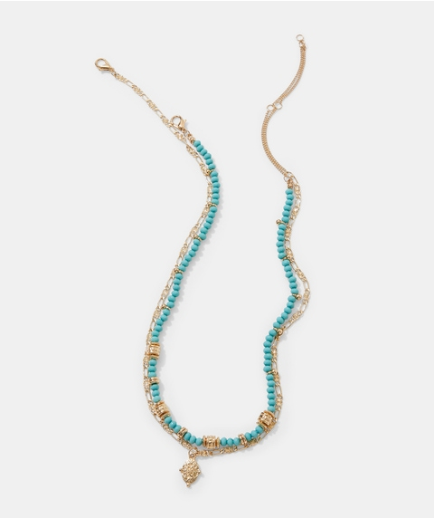 TURQUOISE BEADED NECKLACE PACK