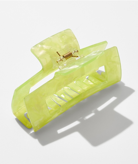 LIME RECTANGLE HAIR CLAW