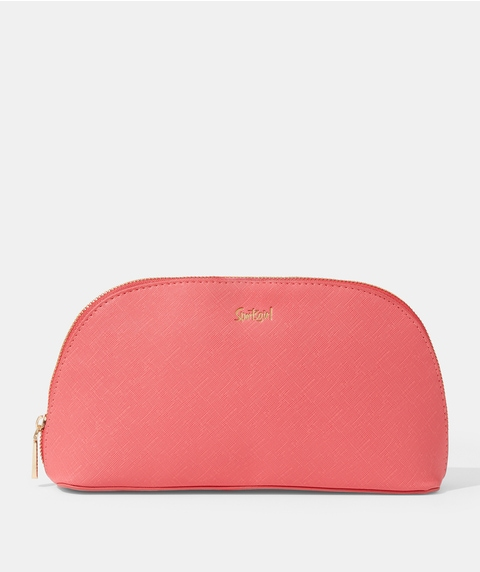 SG COLLECTION - WATERMELON PU LARGE DOME BEAUTY BAG